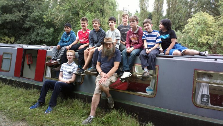 7th Camberley Scouts Canal Boat Trip 2015
